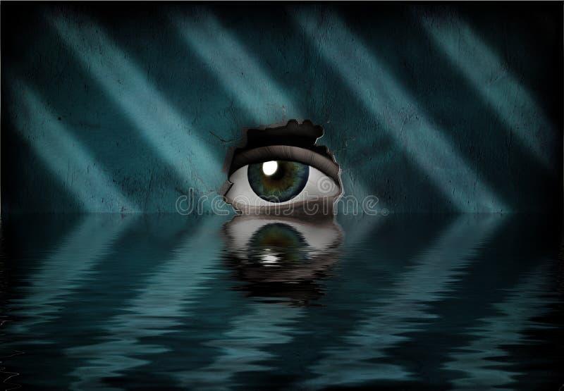 бассеин глаза иллюстрация штока