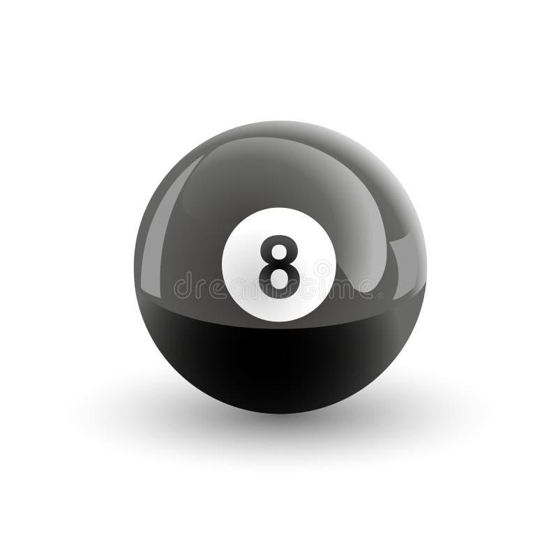бассеин номера шарика 8 иллюстрация вектора