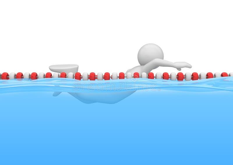 бассеин резвится пловец бесплатная иллюстрация