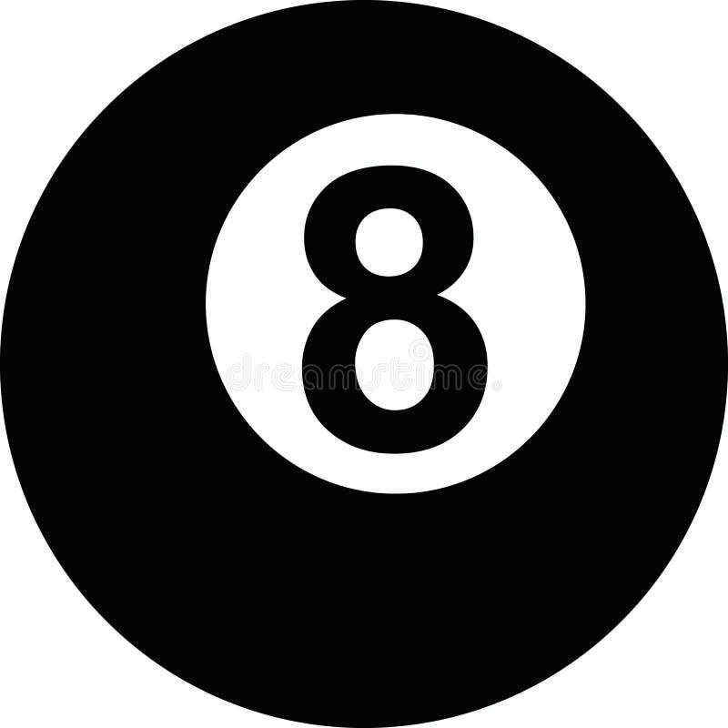бассеин шарика 8 иллюстрация вектора