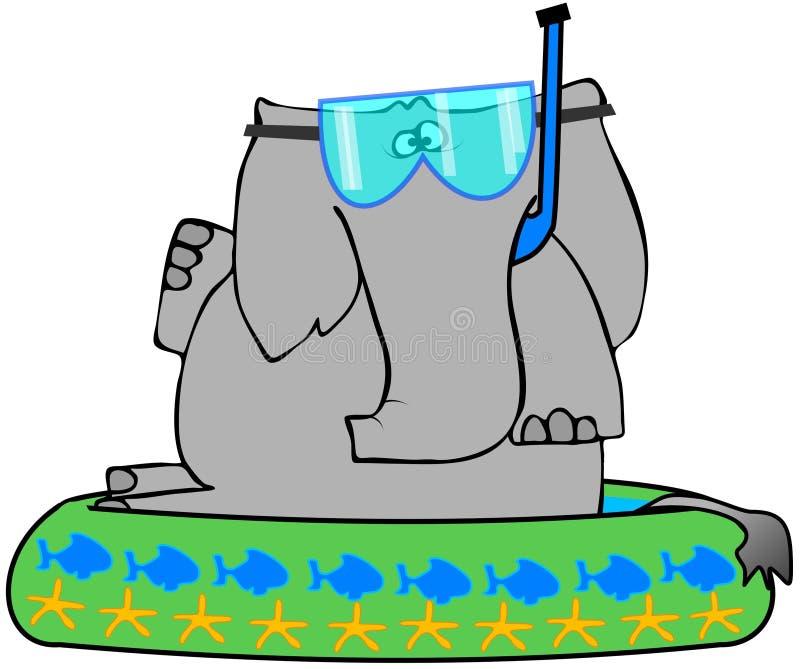 бассеин kiddie слона иллюстрация штока