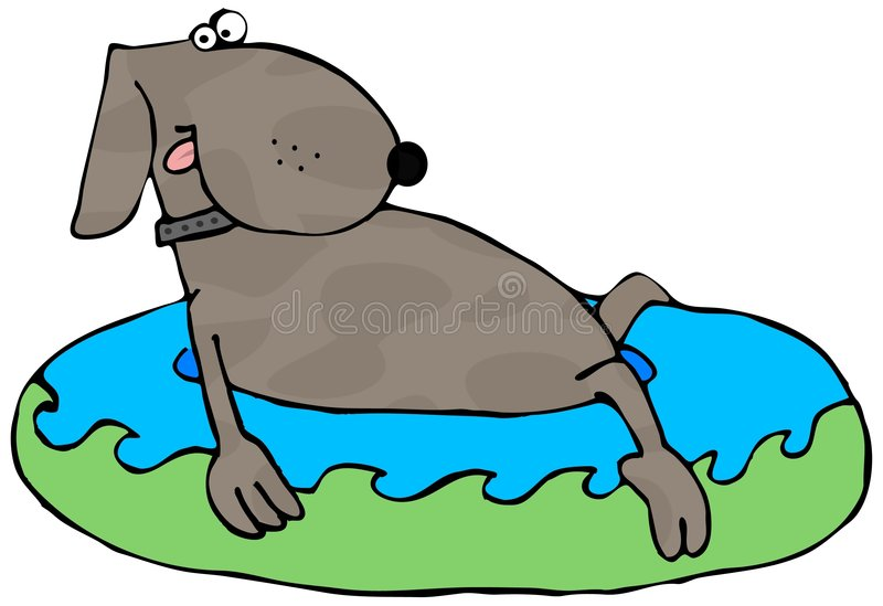 бассеин kiddie собаки иллюстрация штока