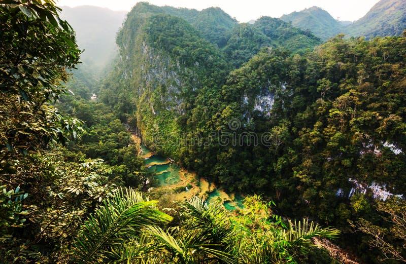 Бассейны в Гватемале стоковое фото