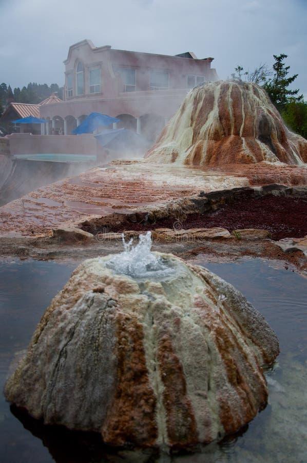 Бассейны естественной земли горячих источников Pagosa Springs геотермические стоковое фото