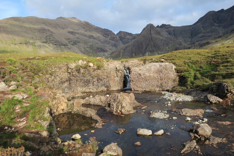 Бассейны феи на острове Skye в Шотландии стоковое изображение