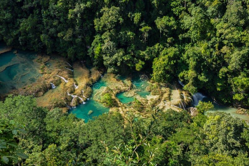 Бассейны Semuc Champey естественные, Гватемала стоковые фото