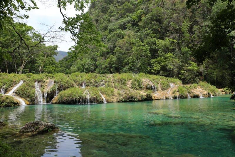 Бассейны Semuc Champey естественные, Гватемала стоковая фотография rf