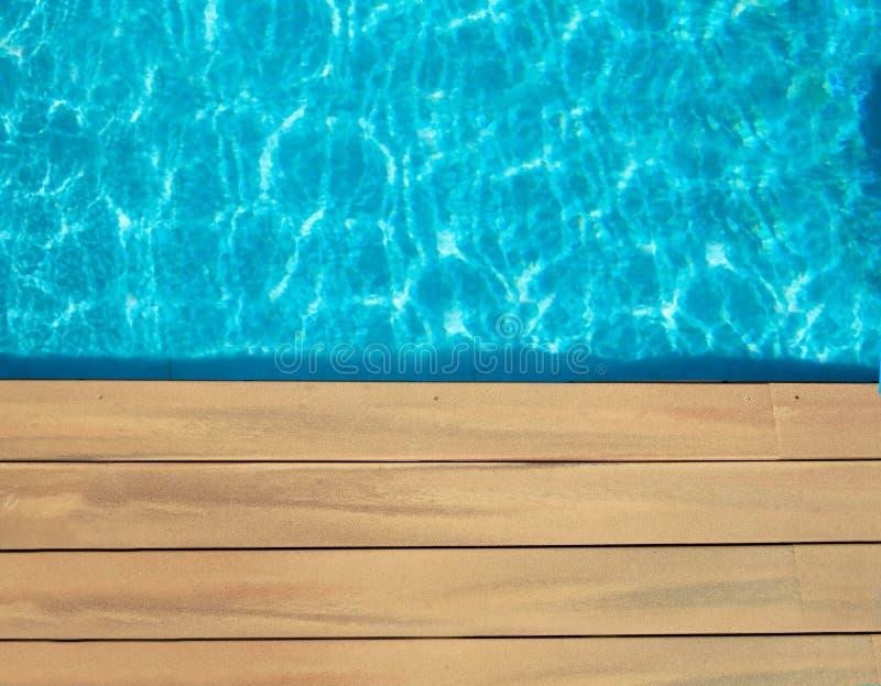 Бассейн и деревянное стоковые фото