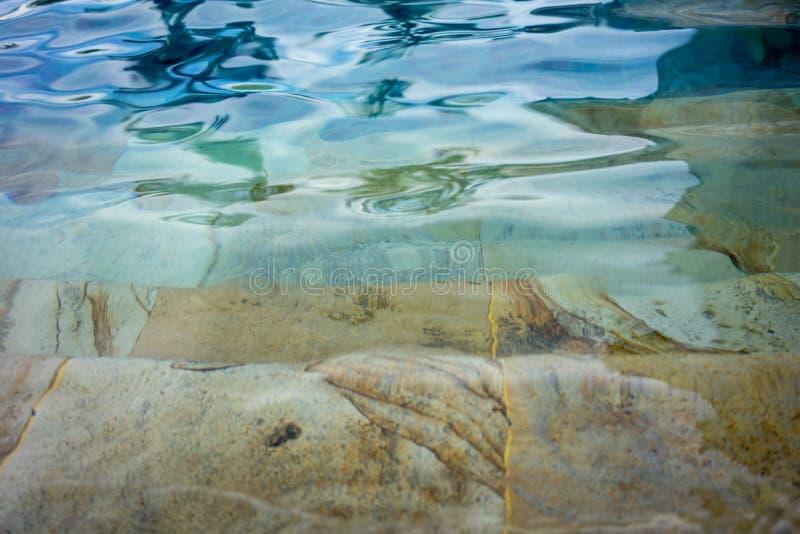 Бассейн, конец вверх, влияние воды пульсации стоковые изображения rf