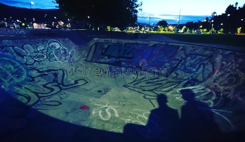 бассейн конька в Нелсоне стоковое изображение