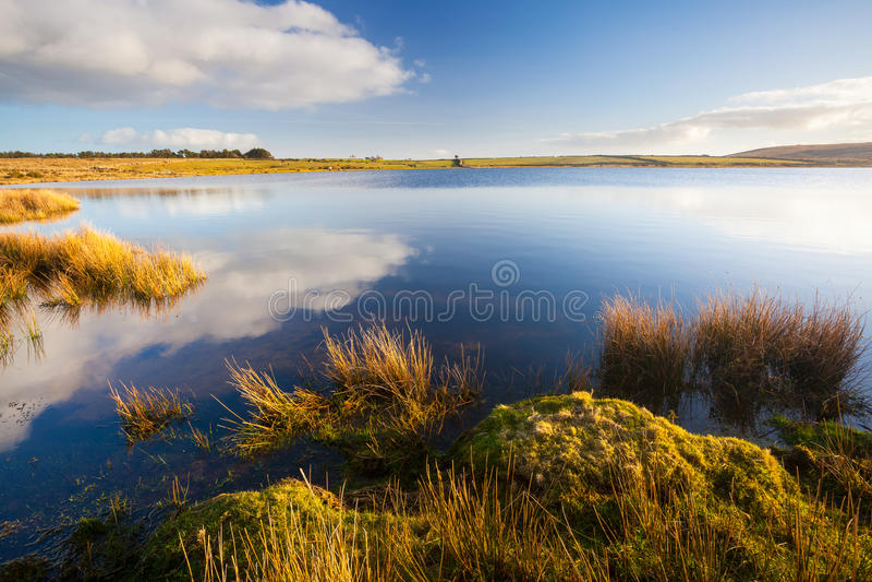 Бассейн Корнуолл Англия Dozmary стоковая фотография rf