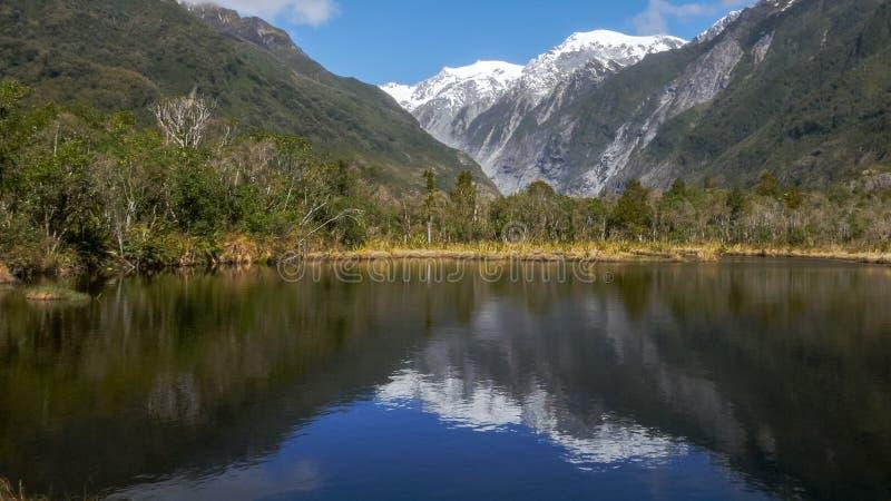 Бассейн Питер на леднике Frantz josef в Новой Зеландии стоковое фото
