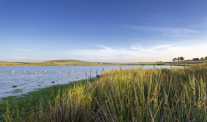 Бассейн Dozmary на Bodmin причаливает в Корнуолле стоковое фото