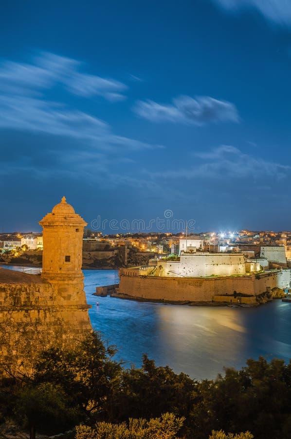 Бастион Lascaris форта в Валлетте, Мальте стоковые изображения rf