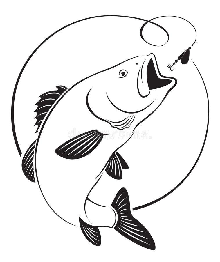 Бас рыб иллюстрация штока