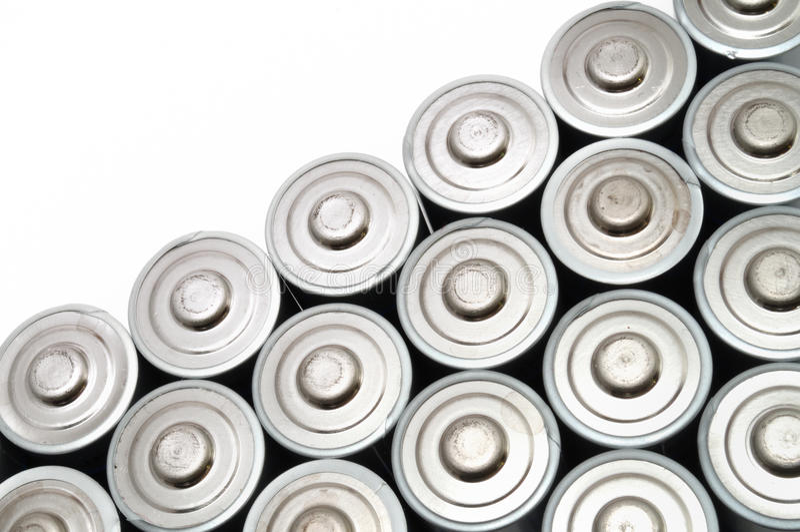 батареи aa много стоковая фотография