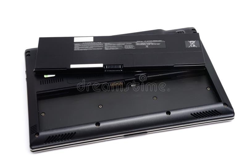 Батарея компьтер-книжки стоковое фото rf
