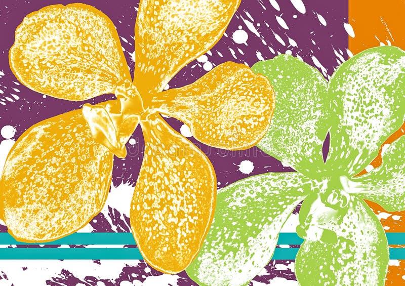 Батик орхидеи иллюстрация вектора