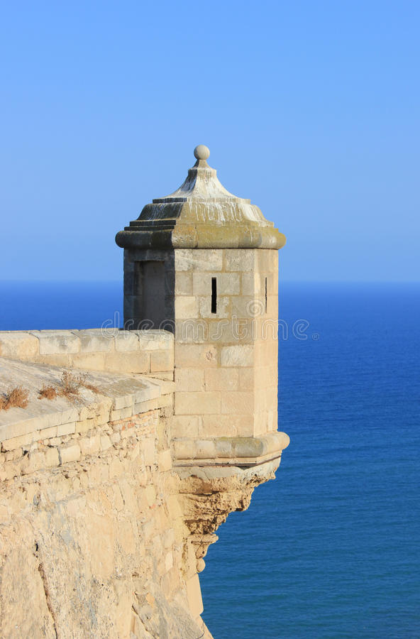 Башенка замока Alicante стоковые изображения rf