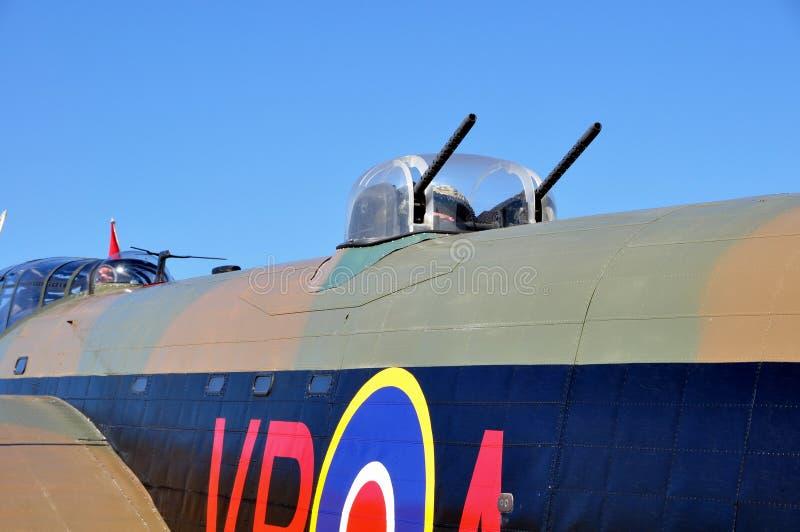 башенки lancaster пушки avro стоковые фото