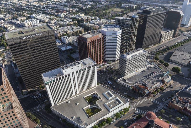 Башни бульвара Wilshire в Лос-Анджелесе Калифорнии стоковое фото rf