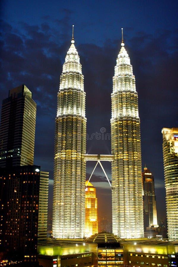 Башни близнецов Куалаа-Лумпур стоковая фотография