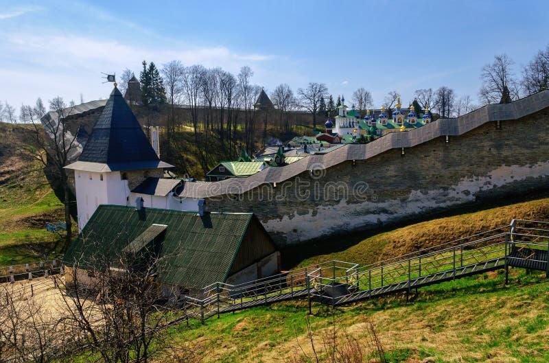Башни и стены крепости стоковая фотография rf
