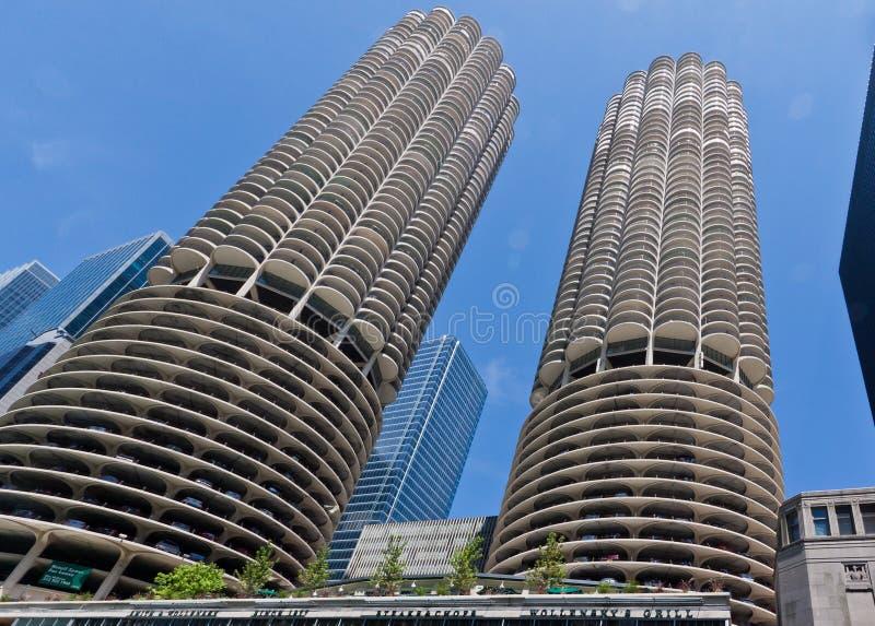 башни Марины города chicago стоковое фото rf