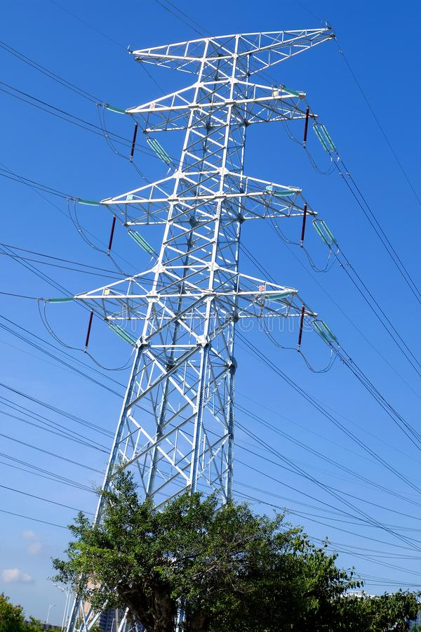 Башни передачи наивысшей мощности стоковое изображение