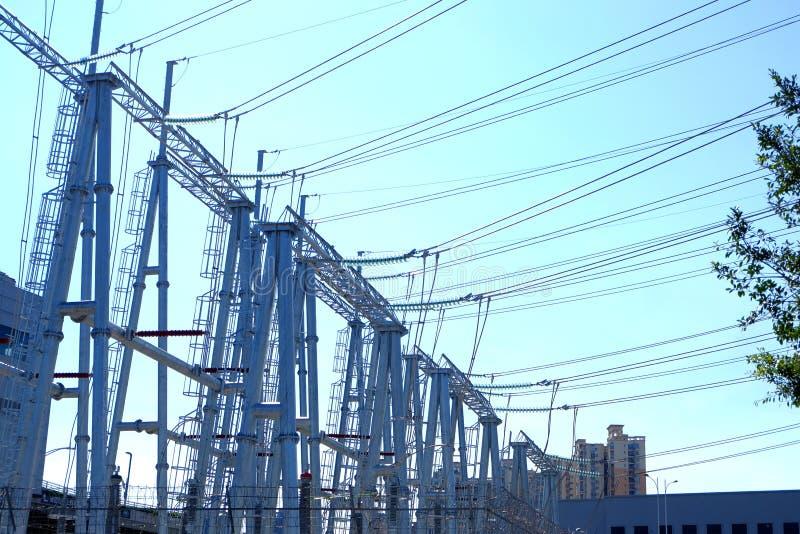 Башни передачи наивысшей мощности стоковое фото rf