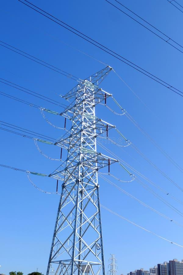 Башни передачи наивысшей мощности стоковые фотографии rf