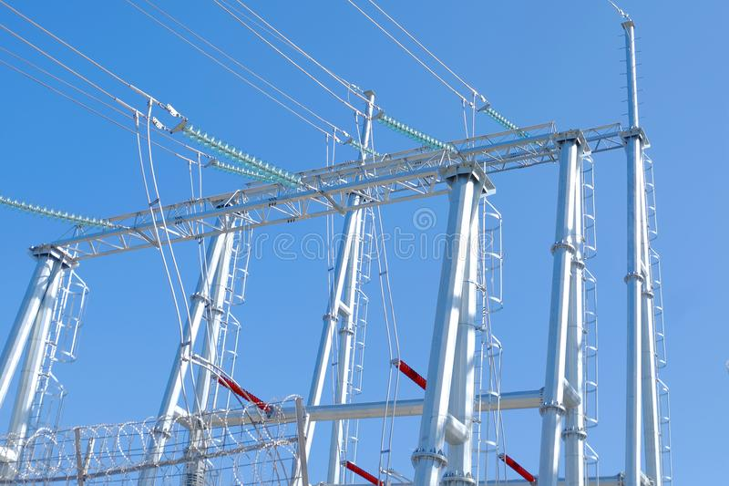 Башни передачи наивысшей мощности стоковое изображение rf