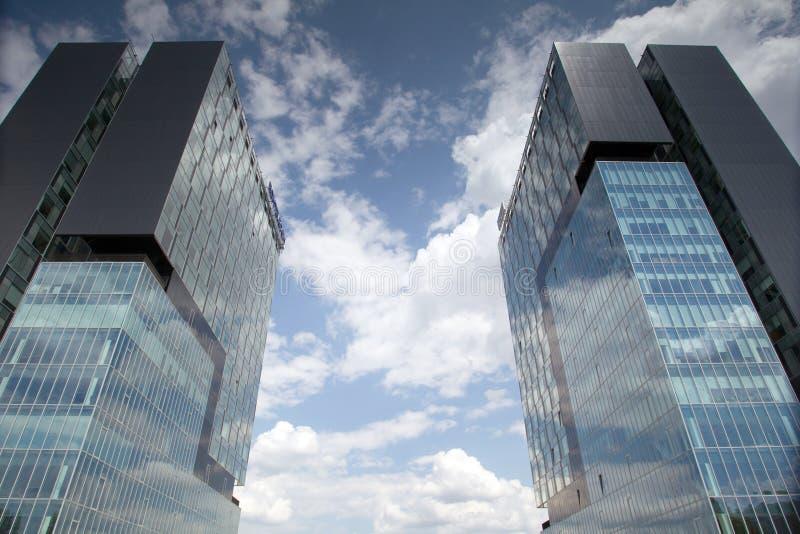 Башни строба города, город Бухареста стоковое фото