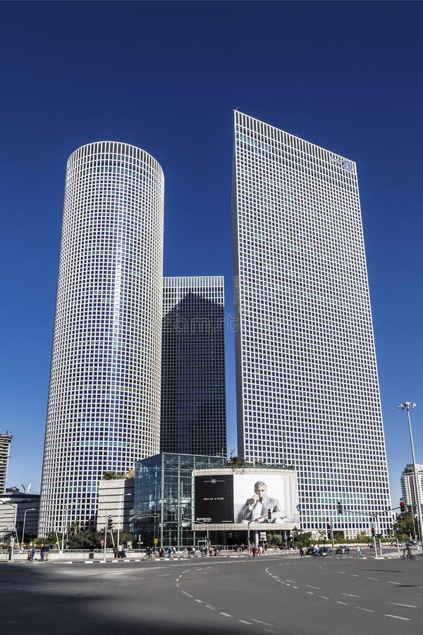 3 башни Azrieli в Тель-Авив, Израиле стоковое изображение rf
