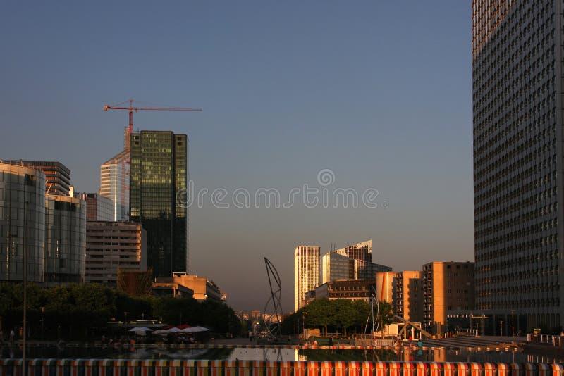 башни la обороны стоковая фотография