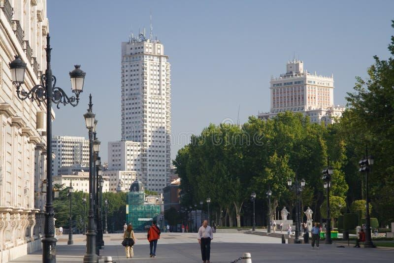 башни madrid стоковая фотография rf