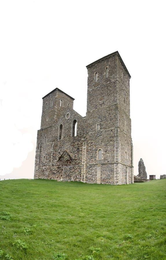 башни reculver herne форта залива римские стоковая фотография