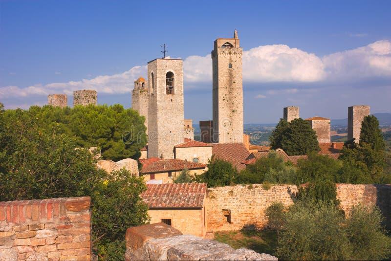 башни san gimignano стоковые изображения rf