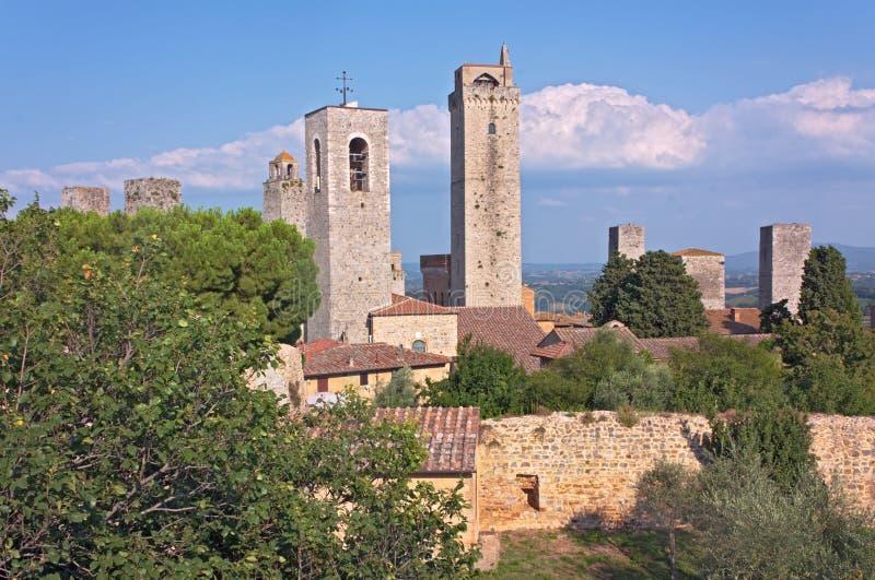башни san gimignano стоковая фотография rf