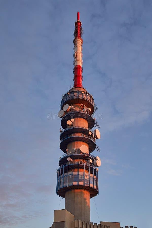 Башня антенны передатчика стоковое фото rf