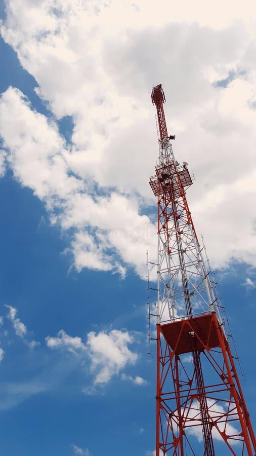 Башня антенны радио радиосвязи стоковая фотография rf