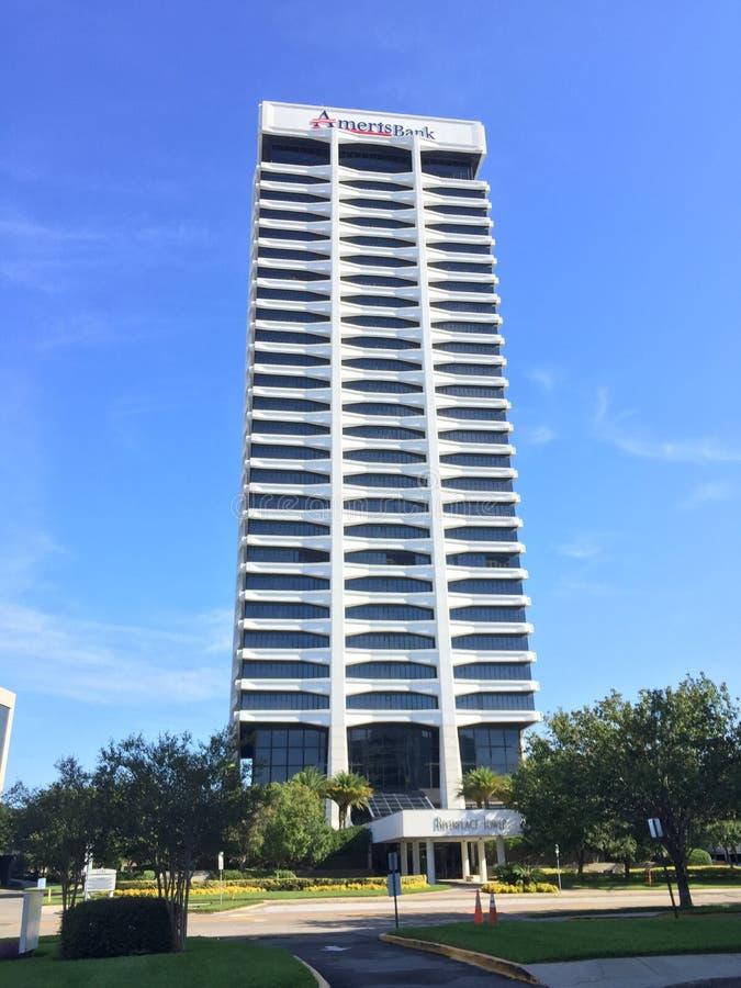 Башня банка Ameris, Джексонвилл, Флорида стоковые изображения rf