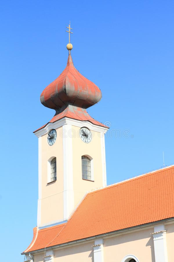 Башня барочной церков Святой Анны стоковая фотография rf