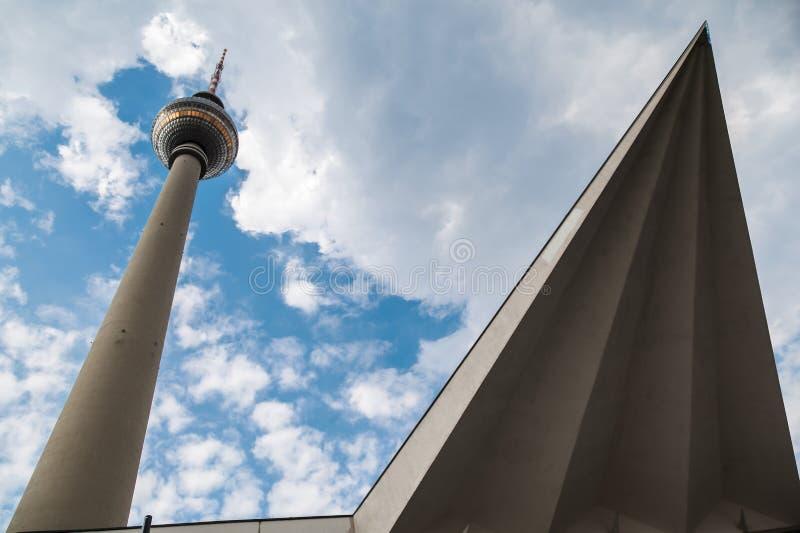 Башня Берлин Германия TV стоковая фотография