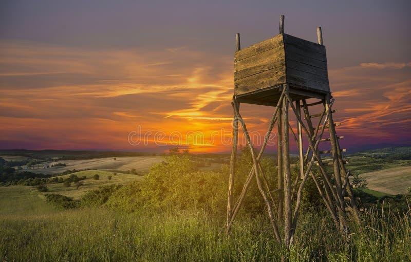 Башня бдительности охотников стоковая фотография