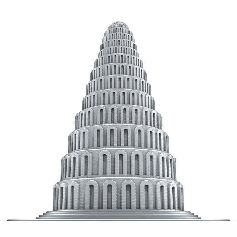 башня Вавилона иллюстрация вектора
