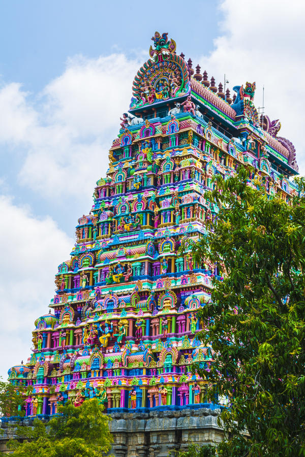 Башня виска siva лорда Chidambaram стоковое изображение