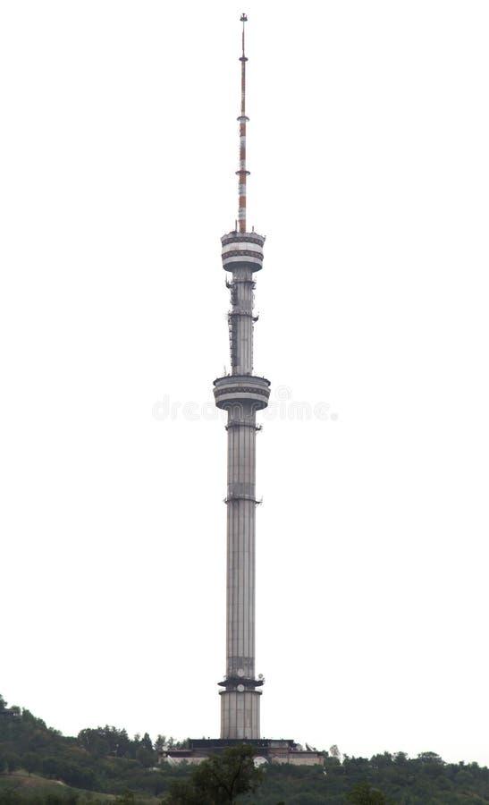 Башня в Алма-Ате, Казахстан ТВ стоковые изображения