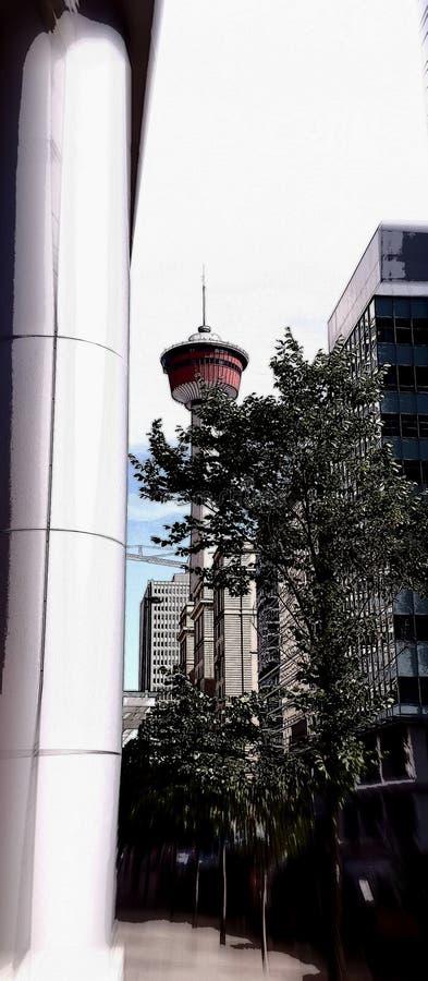 Башня в ней и x27;s слава стоковые изображения