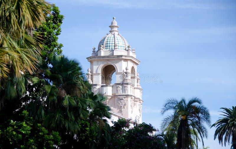 Башня в парке бальбоа стоковое изображение rf